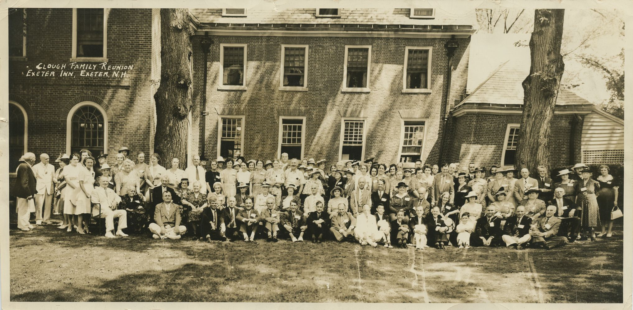 Clough Family Reunion, Exeter Inn, Exeter, NH, Circa 1940